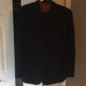 Black Jos A Bank Joseph Striped suit